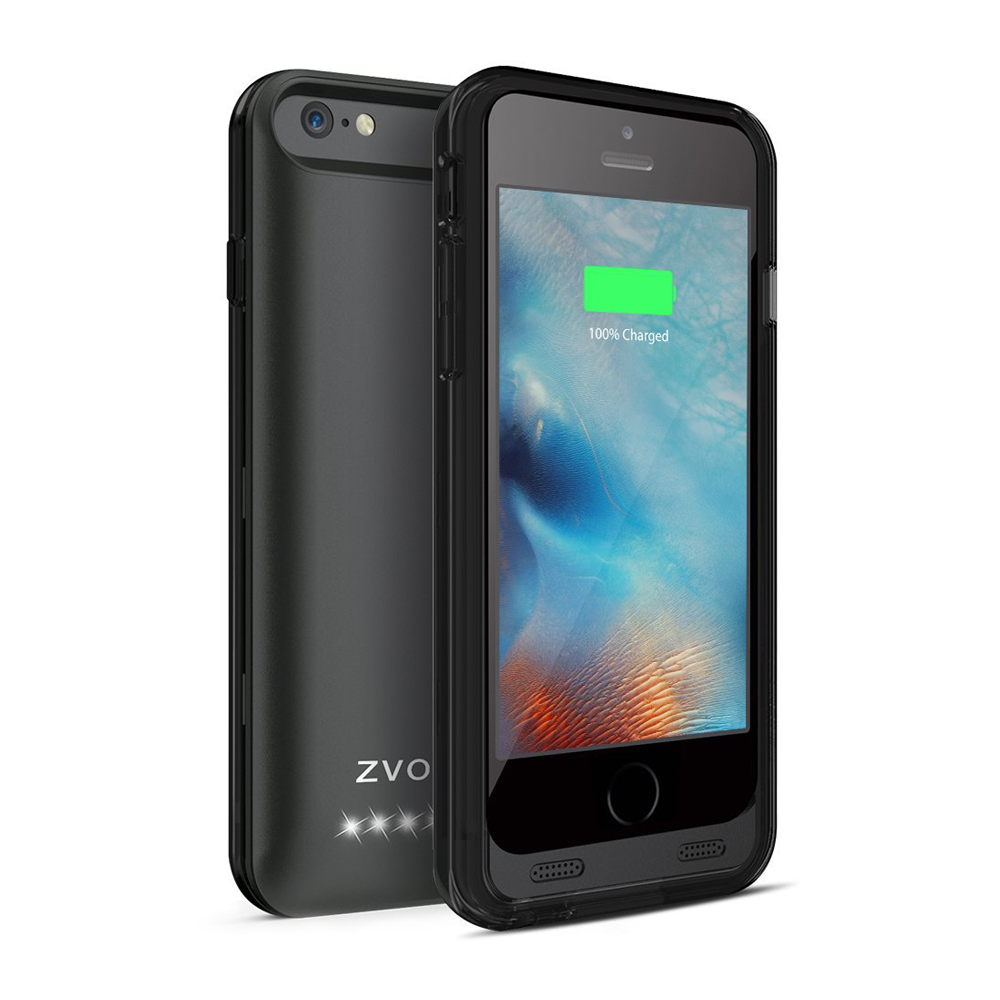ZT6 iPhone 6/6s Battery Case – Black/Black – ZVOLTZ