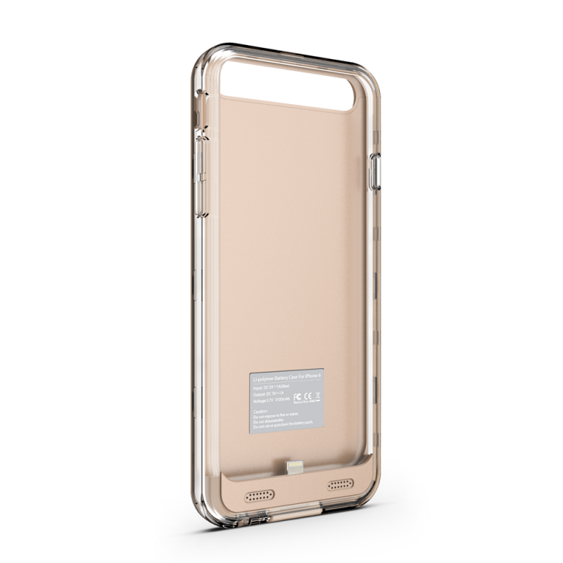 ZT6 Battery Case - Gold/Clear