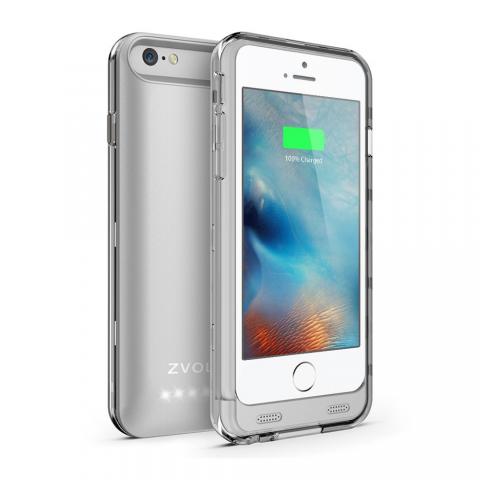ZT6 Battery Case - Silver/Clear