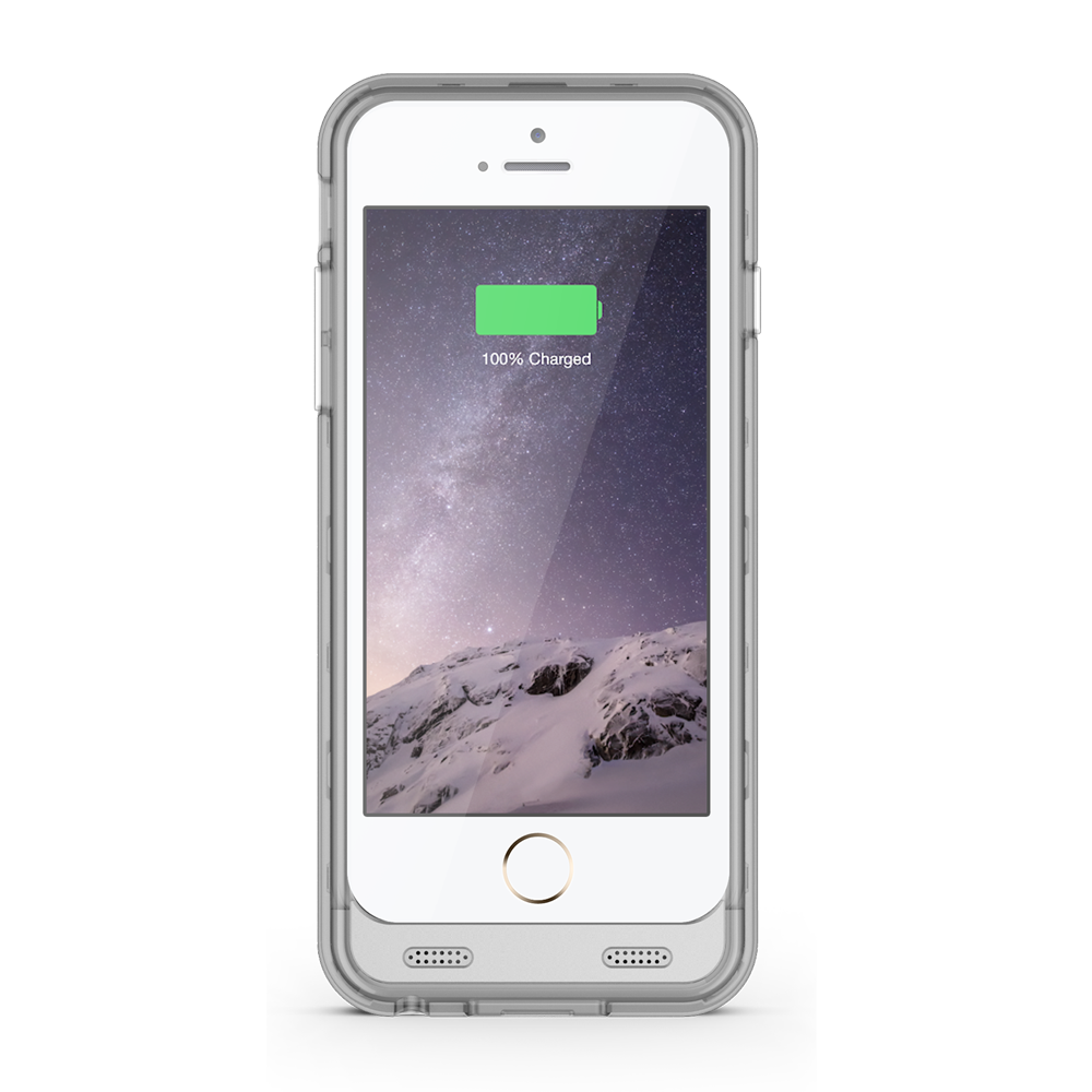 ZT6 iPhone 6/6s Battery Case – Silver/Clear – ZVOLTZ