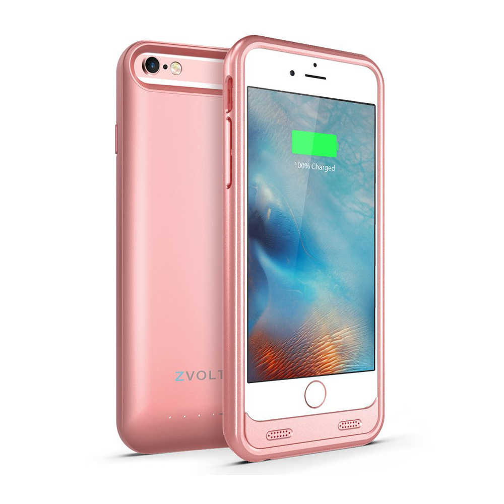 zt6 iphone 6 6s battery case rose gold zvoltz. Black Bedroom Furniture Sets. Home Design Ideas